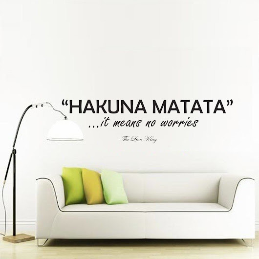 Hakuna Matata wall decal sticker | wall art decal sticker