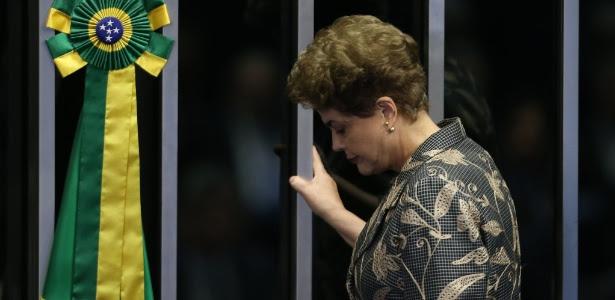 A presidente afastada, Dilma Rousseff, foi ao Senado apresentar sua defesa no processo de impeachment