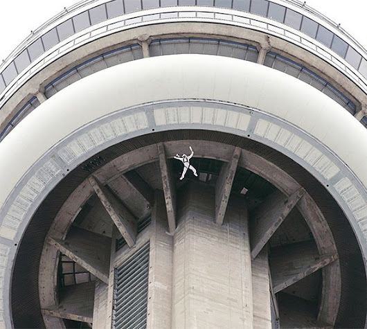 Someone BASE jumped off the CN Tower yesterday