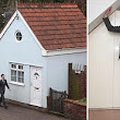 Size isn't everything: Tiny two-storey house that is just 13ft wide goes on the market for £75,000