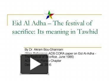 Ppt Eid Al Adha Powerpoint Presentation Free To View Id 5e0564 Odixm