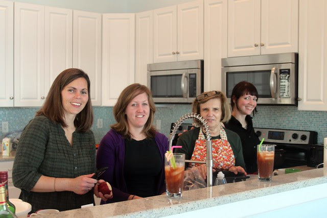 Thanksgiving -- my sister-in-laws and their bloody mary's :)