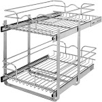 Rev-A-Shelf 5WB2-1522CR-1 / 15 in x 22 in Two-Tier Pull-Out Baskets