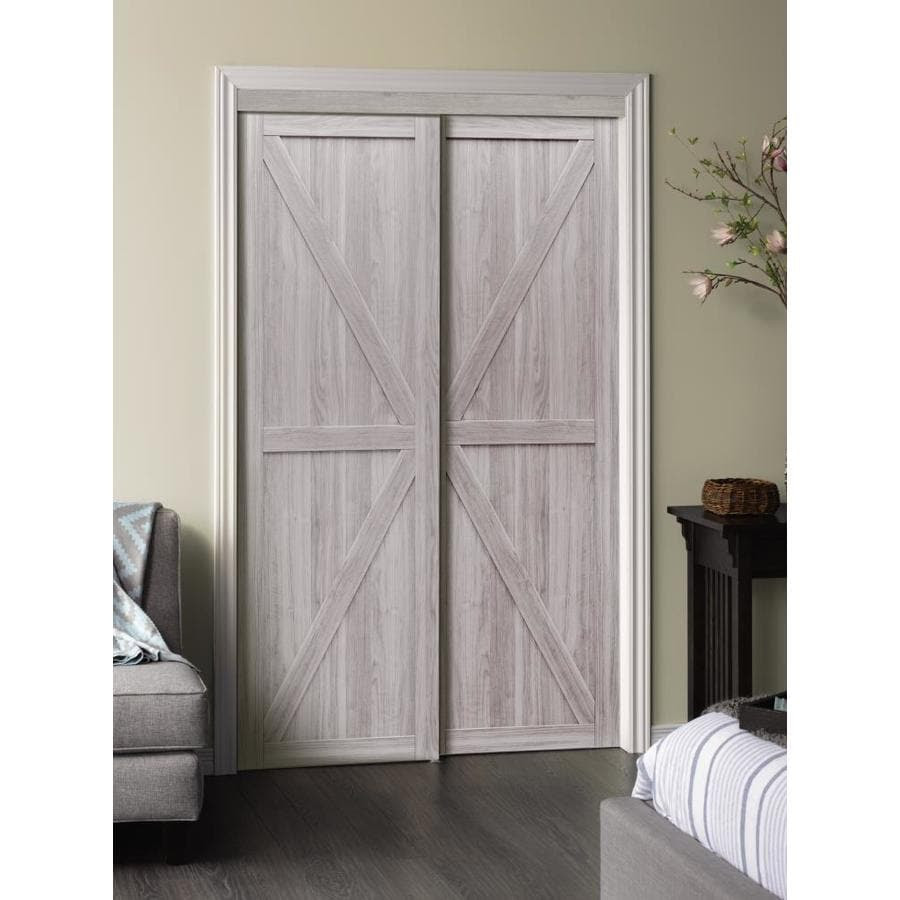 ReliaBilt Reliabilt 23-in x 23-in Silver Flush MDF Sliding Closet Door  (Hardware Included)