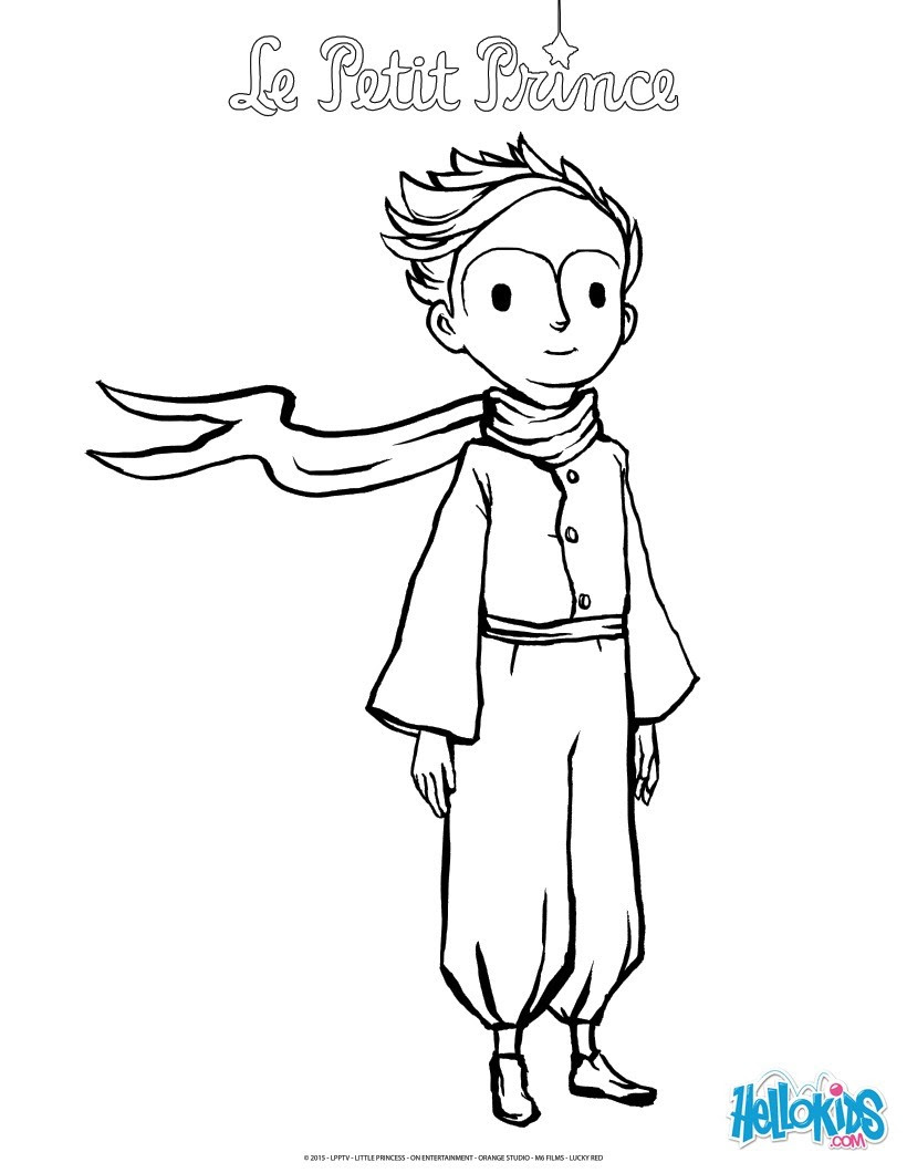 The Little Prince Coloring Pages Hellokids Com