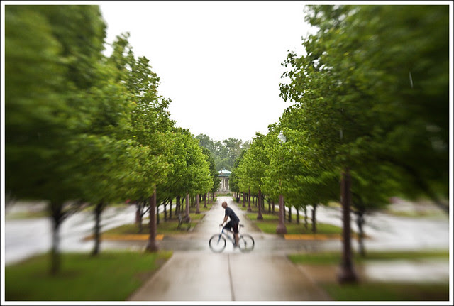Cyclist On a Wet Day