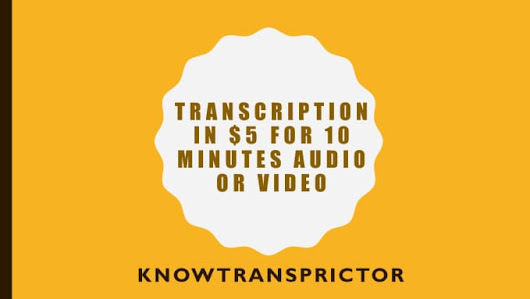 vsmclub : I will provide quality transcripts for any english audio or video up to 10 minutes for $5 on www.fiverr.com