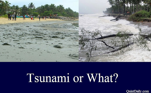 Tsunami Fears at Kozhikode Beach Areas - QuintDaily
