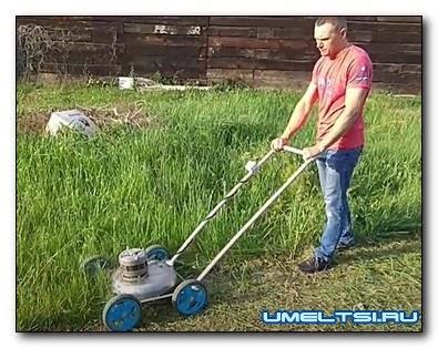 Делаем газонокосилку из старой стиральной машины