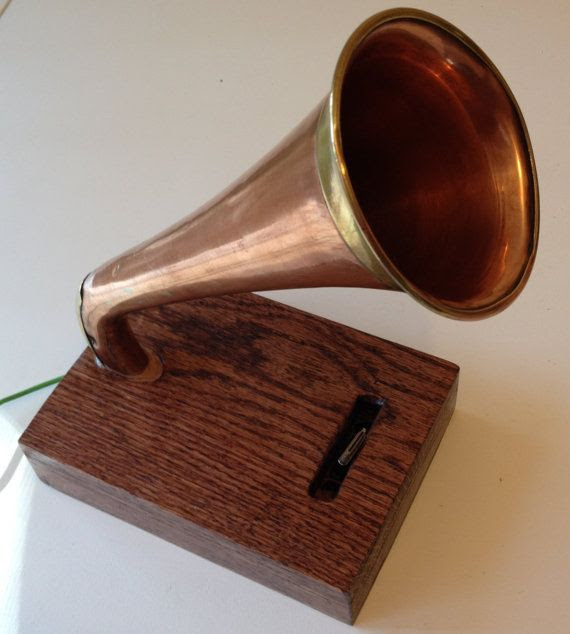 Ipod Iphone Music Amplifyer Speaker Copper Horn brass by CopperByT