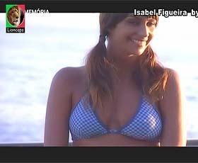 Isabel Figueira em produção fotográfica no passado no Só Visto