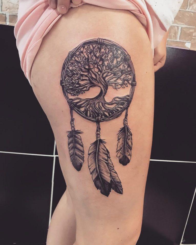 80 Best Dreamcatcher Tattoo Designs Meanings Dive Deeper 2018