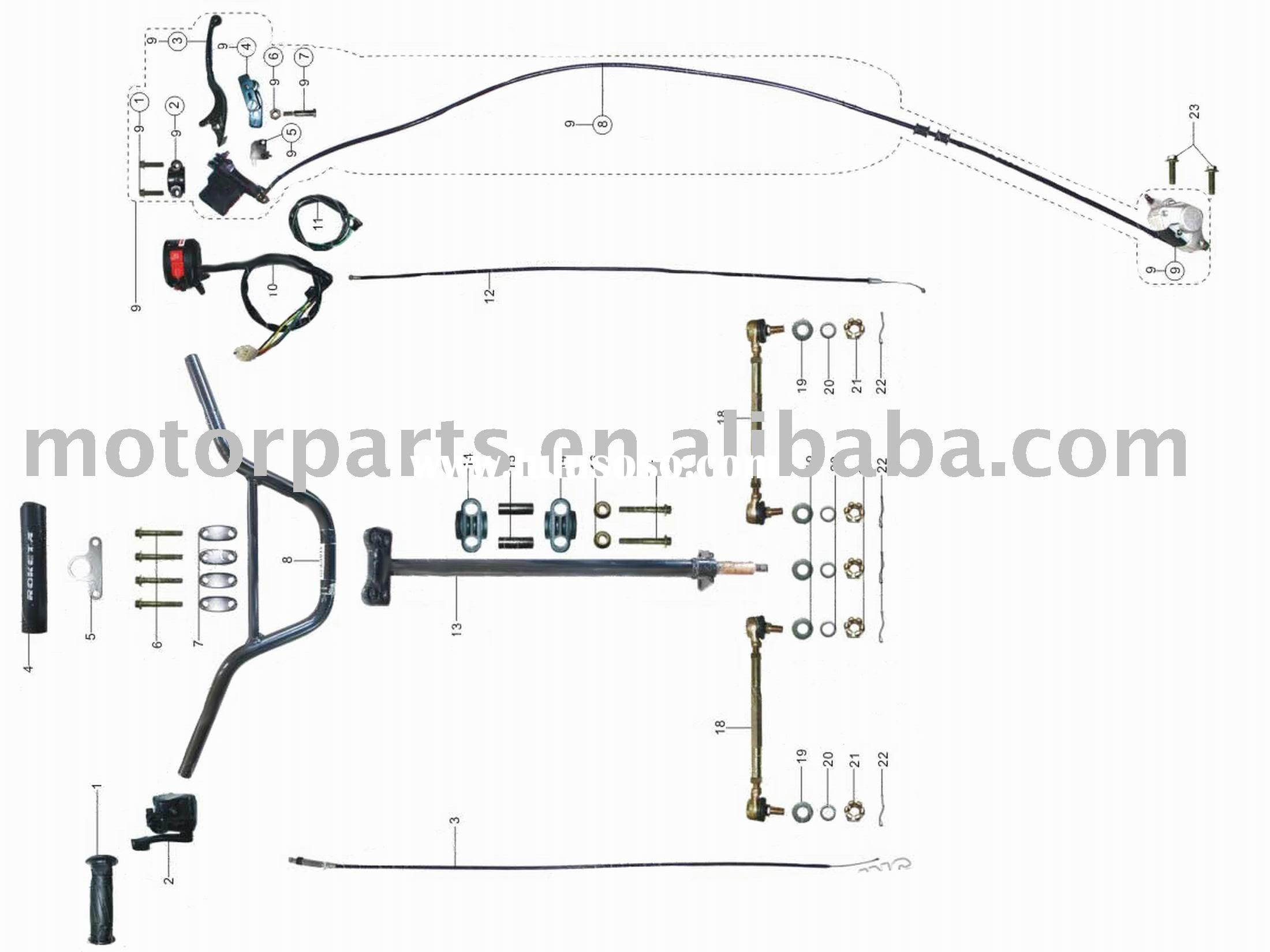 150cc atv wiring diagram