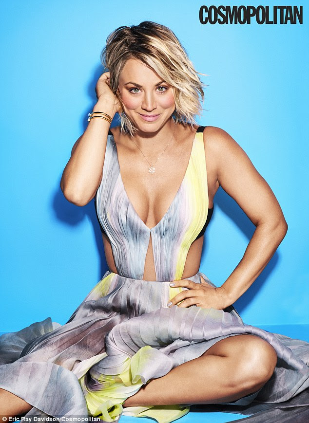 Posing pretty: Kaley Cuoco doesn't hold back in her cover story for Cosmopolitan magazine