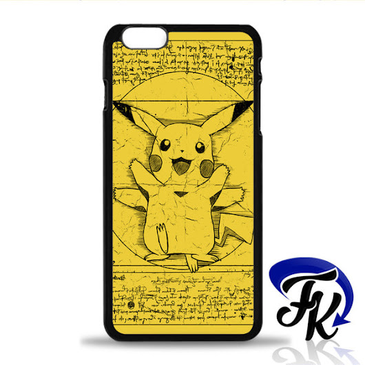 Vitruvian Pikachu Design Phonecase, Case, Cover Plastic and Rubber for Samsung Galaxy Cases, iPhone Cases, iPod Cases