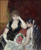 Pierre-Auguste Renoir, A Box at the Theater (At the Concert), 1880. Oil on canvas, 99.4 x 80.7 cm. © Sterling and Francine Clark Art Institute, Williamstown, Massachusetts, USA, 1955.594
