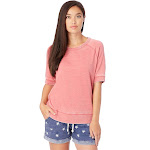 Alternative Apparel Burnout French Terry Fifty Yardliner - Pink