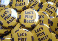 'Let's Play Razz' buttons, as designed by the hosts of Ante Up!