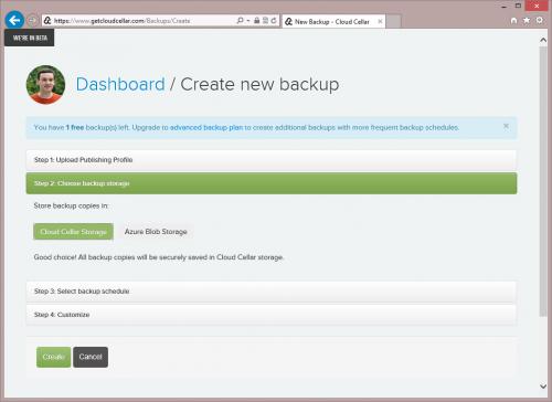 Choose Backup Storage
