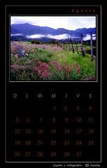 August Black Calendar