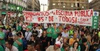 Manifestación de la Marea Verde en Madrid contra los recortes en Educación. EFE