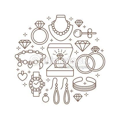 宝石店ダイヤモンド アクセサリー バナー イラストですゴールドの腕時計