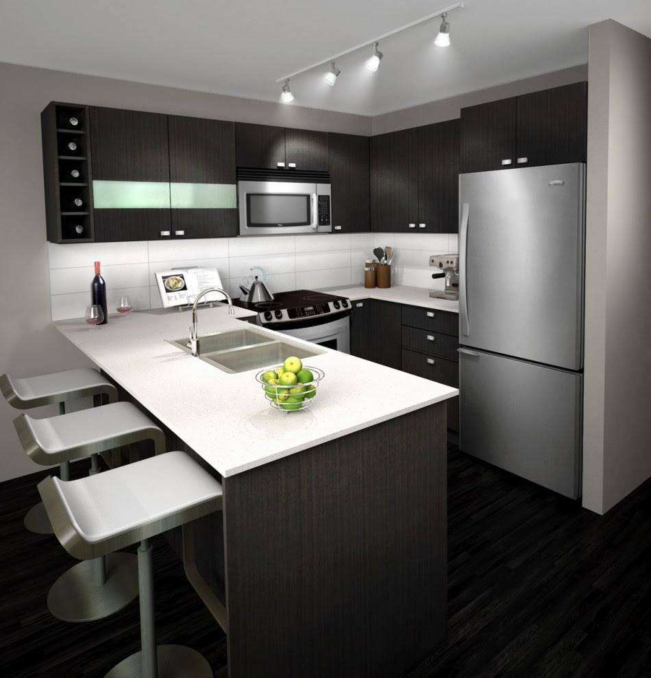 Lavish White and Grey Kitchen for an Elegant Finish ...