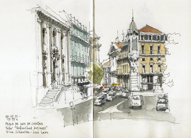 Lisbon, Largo Luis de Camoes