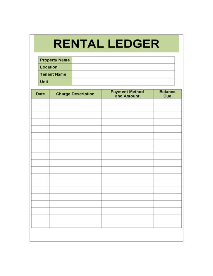 rental ledger sample template l1