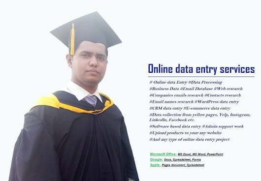 raihanrud : I will do online data entry jobs for $5 on www.fiverr.com