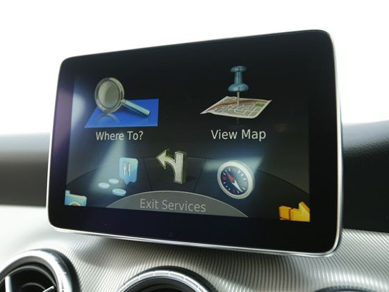 Mercedes-Benz CLA navigation screen