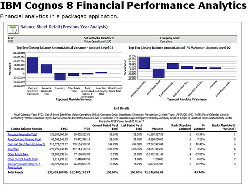 IBM Cognos 8 Financial Performance Analytics