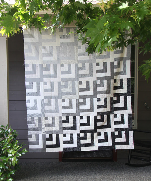 Grayscale Quilt Top, Block Tutorial