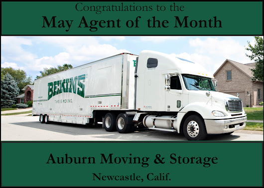 Auburn Moving Storage Named Agent Of The Month For May 2017
