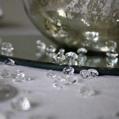 Pressed Glass & Crystal Wedding Table Decorations. ? The