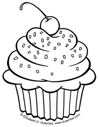 elsa coloring pages images cupcake - photo#26
