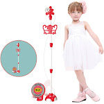 Nomeni Kids Karaoke Machine With 2 Microphones Adjustable Stand Music Play Toys Set