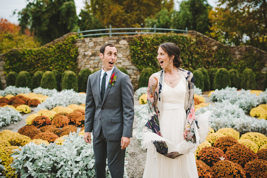 Fall Asheville Wedding at NC Aboretum | Laura + Eric