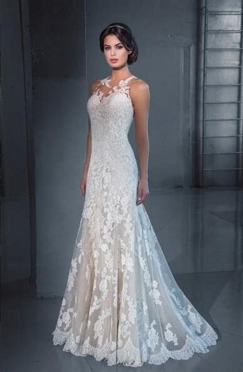 New Designer Mermaid 2016 Wedding Dresses Lace Cheap Sheer