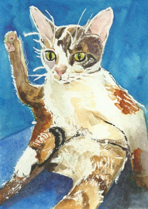 Cats Painted In Watercolor Day 24 and 25 September 2016 -