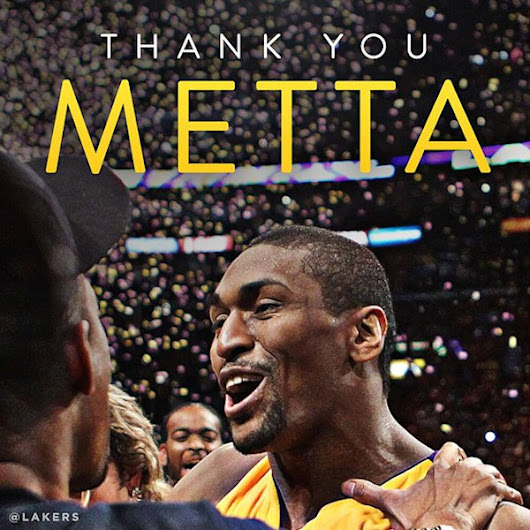 Los Angeles Lakers waive Metta World Peace using amnesty provision, ending a weird, amazing era