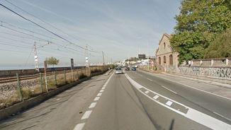 El punt quilomètric on hi ha hagut l'accident a l'N-II (Google Maps)