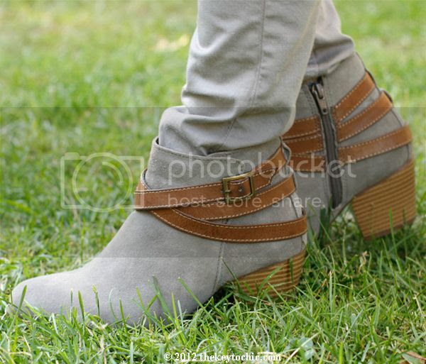 Sonoma Life + Style buckle ankle strap booties, ankle strap boots, Rag & Bone Harrow look a like boots