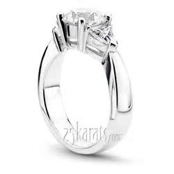 Trillion Cut Diamond Engagement Ring (0.70 ct.tw.)
