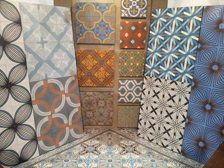Guillermo & Tania Collection are new a new cement tile line.