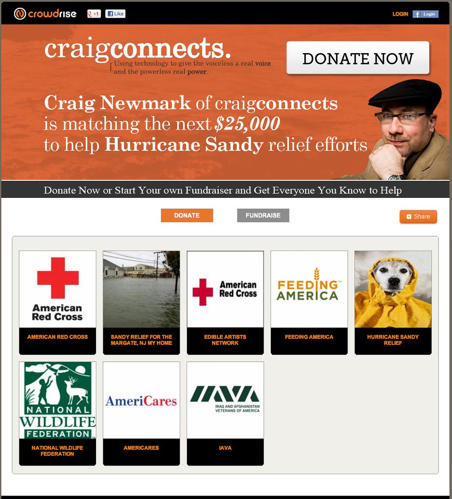 Hurricane Sandy Relief Efforts   Fundraising Event on Crowdrise