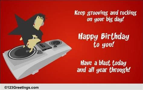 Rocking Birthday Wish! Free Songs eCards, Greeting Cards