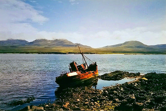 The wreck of the Wyre Majestic in 1998, Isle of Islay
