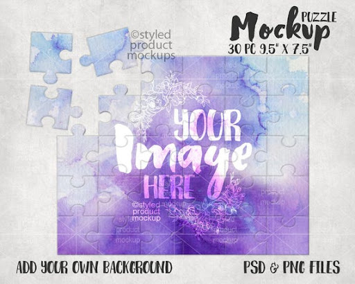 Download Free Sublimation 30 Piece Puzzle Mockup Template Add Your ...