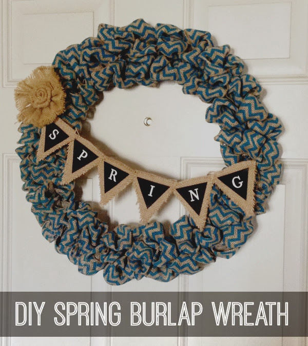 Make A Burlap Spring Wreath